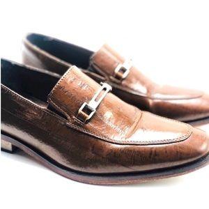 STACY ADAMS-Men's Santiago-Moc Toe Slip-On Loafer